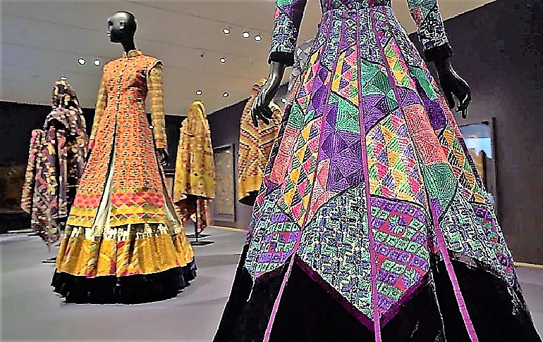Image: Contemporary designs meets tradition Phulkari in the exhibition of Phulkari: The Embroidered Textiles of Punjab from the Jill and Sheldon Bonovitz at the Philadelphia Museum of Art
