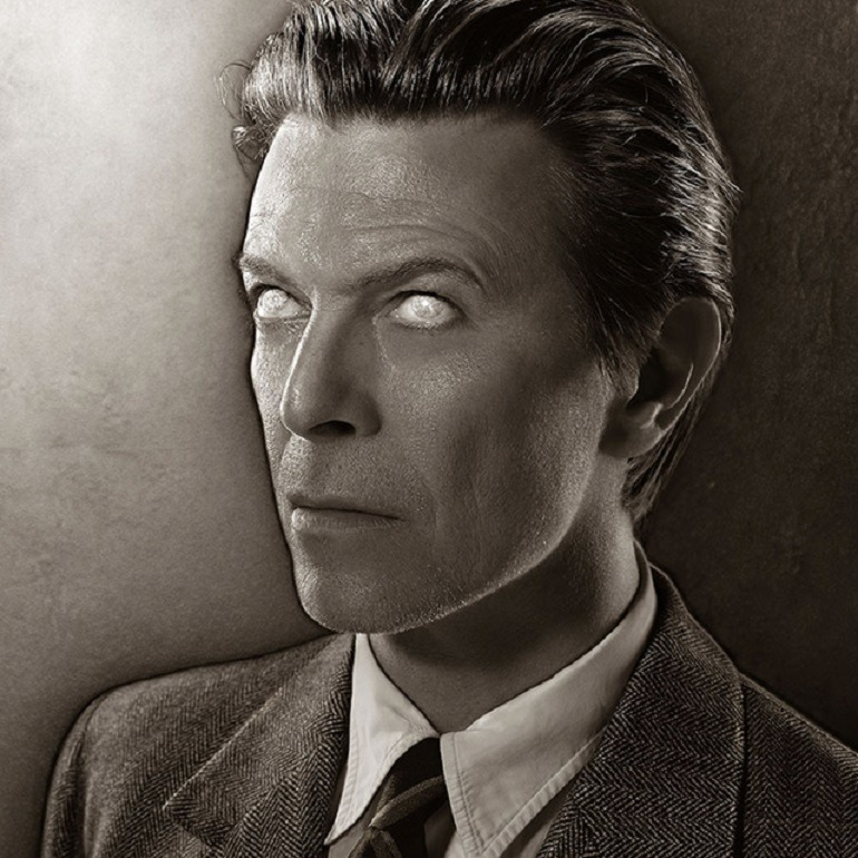 Image: Portrait photograph of David Bowie used on the 'Heathen' album cover 2002 by Markus Klinko , is one the portrait photographs in Legend Passed