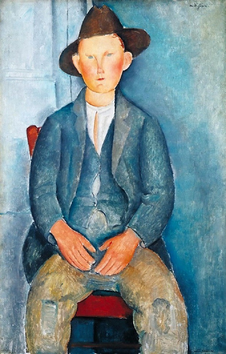 Image: The Little Peasant , an oil on canvas by Amedeo Modigliani one of the famous artists whose works will be part of the fall art exhibitions at Tate Modern, London