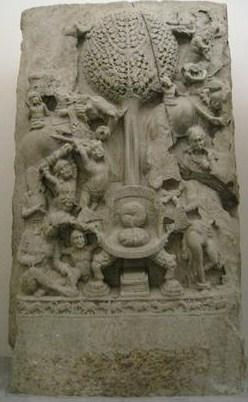L'assaut de Mâra, Andhra Pradesh, Paris, musée Guimet (©RMN-Grand Palais)