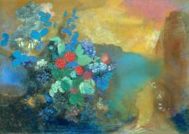 O.Redon, Ophélie au milieu des fleurs