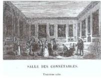 """""""Salle des Connétables"""", vignette de Versailles, ancien et moderne d'Alexandre de Laborde, 1837, p.295"""