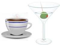Health food coffee alcohol 200px
