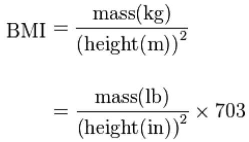 Obesity BMI formula