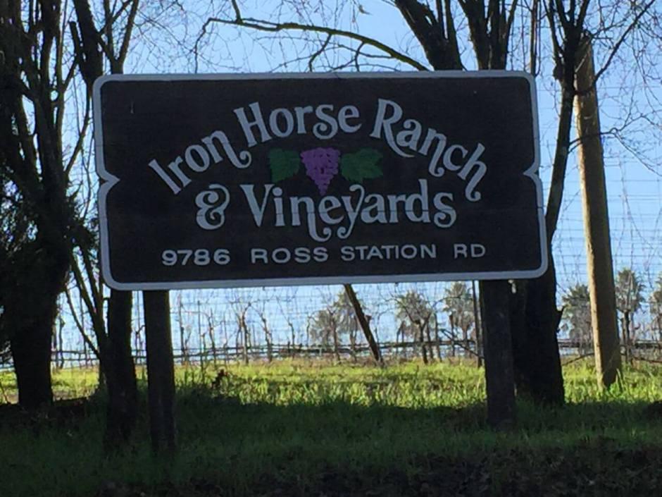 150122 10 California champagne Iron Horse sign IMG_3439