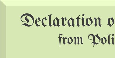 political rants declaration