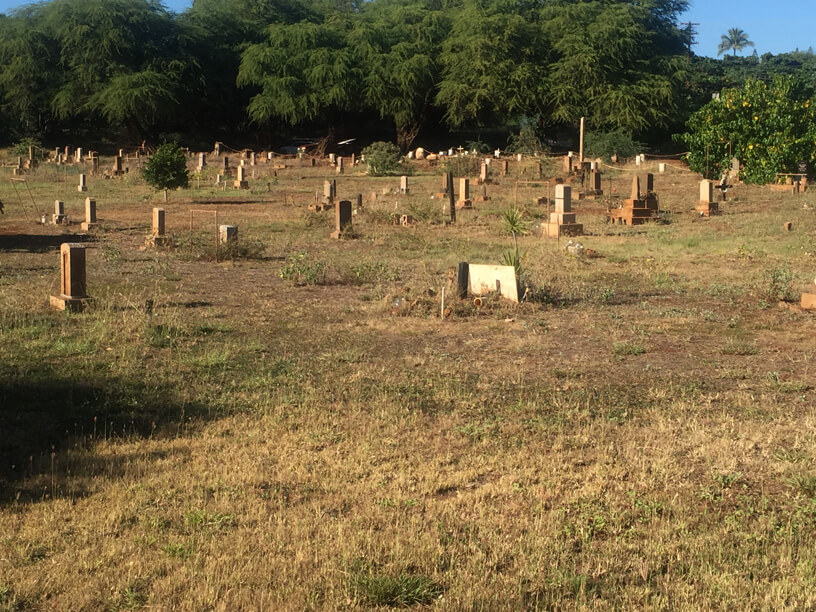 Maui walk - cemetery