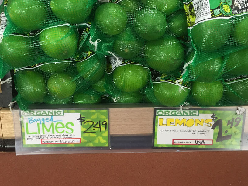 trader joe's limes and lemons