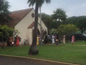 Lahaina Tongan church service