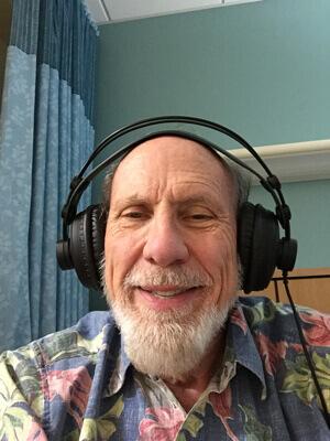 rehab bliss with retro headphones