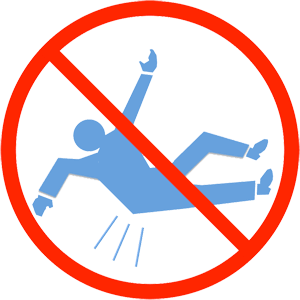 hip fracture - fall warning icon