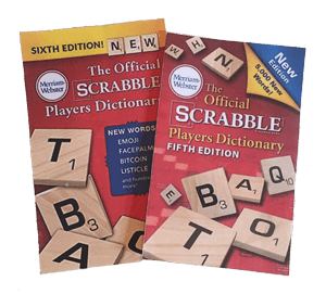New words in the Scrabble 6thEdition