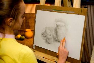 Академический рисунок натюрморт карандашом