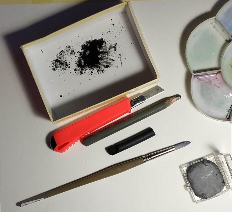 материалы для рисования соусом