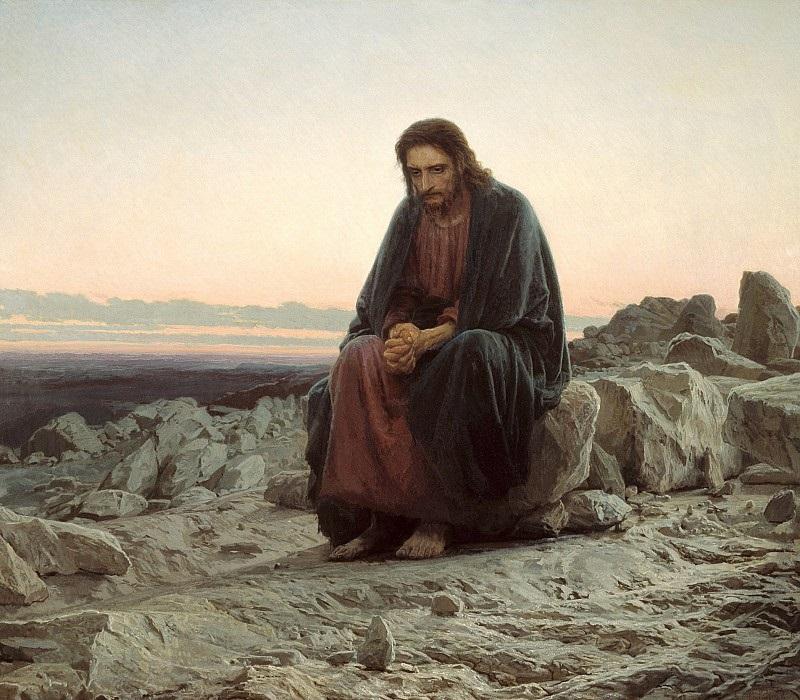 Іван Крамская. Христос в пустелі