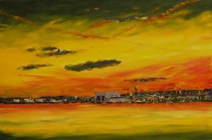 Sunset over Cammell Lairds, Birkenhead