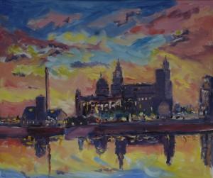 Sunset over the Albert Dock
