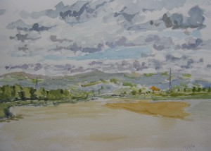 watercolour class, beginners, southport, liverpool, merseyside
