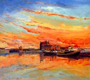 art class, liverpool, paintging of albert dock