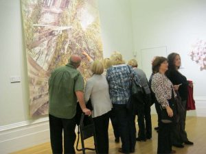 learn to draw and paint. members on a visit to the John Moores exhibition at the walker art gallery, Liverpool