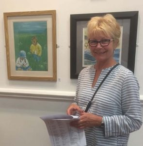 beginners watercolour class, member exhibiting at the chapel gallery, ormskirk