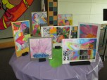 6th Grade Multi-Material Projects and Watercolor Flowers