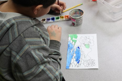 5th Grade Looking Glass Painting (3)
