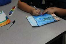 4th Grade Stained Glass Outlines and Painting (6)