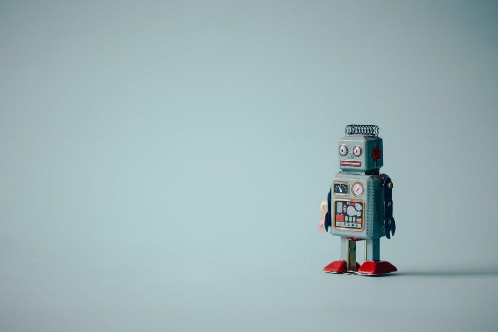 vintage-blue-robot-portrait