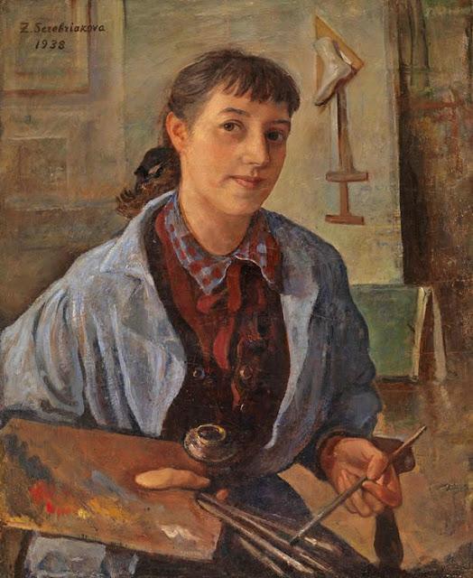 1938 Zinaida Yevgenyevna Serebriakova (Russian artist, 1884-1967) Self Portrait 1938