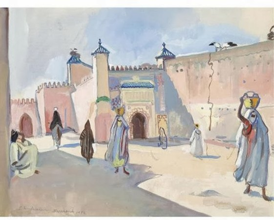 Zinaida-Serebriakova-rue-marrakech-1932
