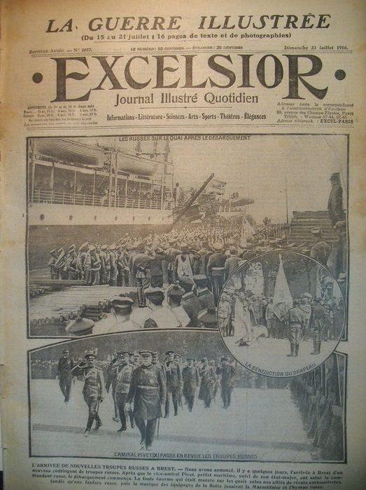 Journal excelsior Brest 1916