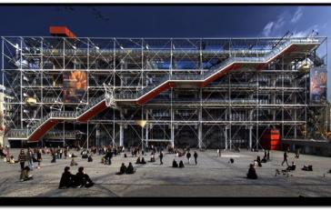 centre georges pompidou paris façade