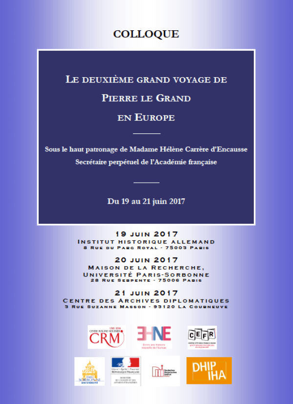 colloque pierre le Grand