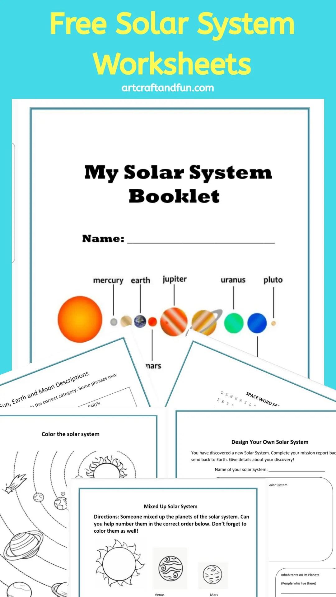 Solar System Worksheets Archives