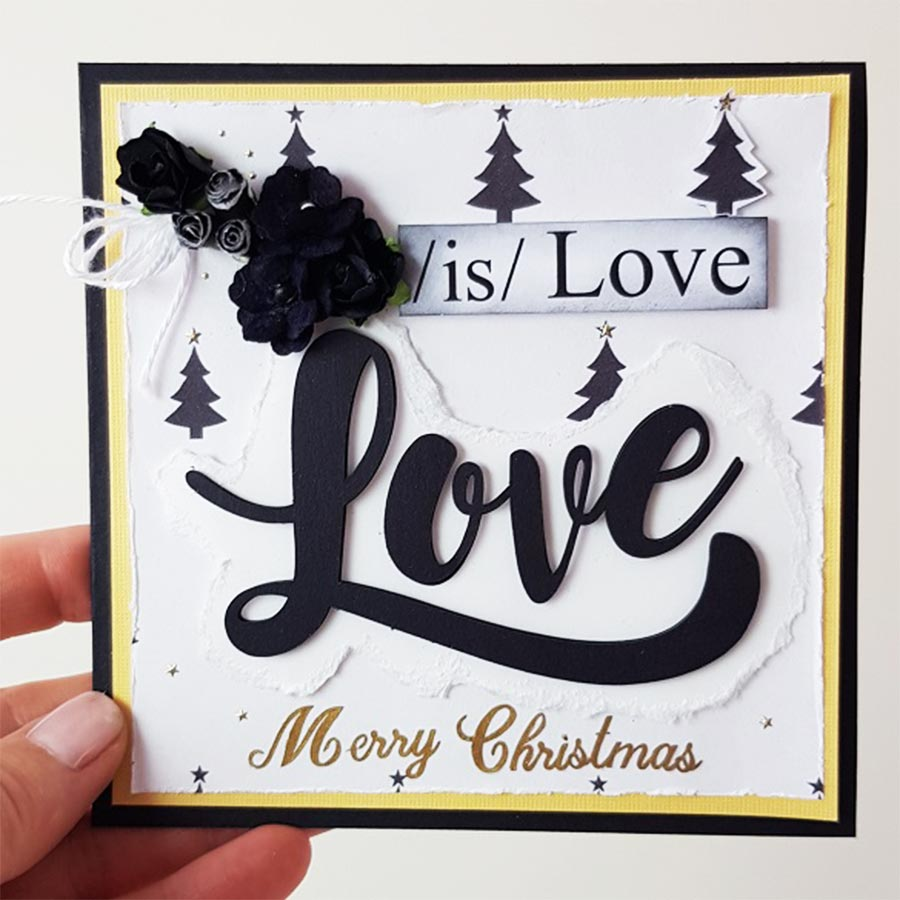 Love Is Love Square Christmas Card 006