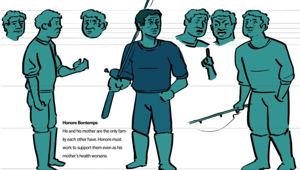 Honore concept art from my adaptation of the Devil. The setting is a bayou and Honore is a fisherman instead of a farmer.