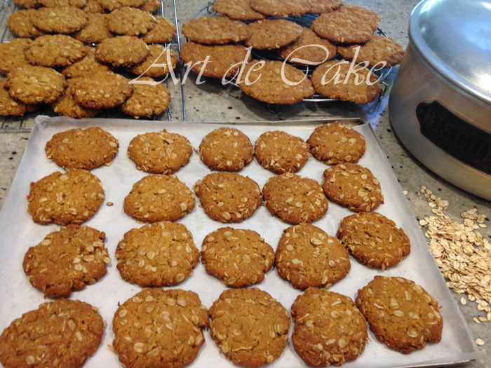 Anzac biscuit just baked