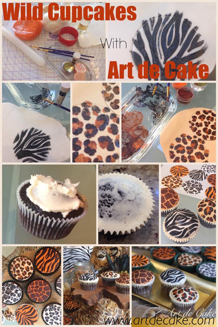 jungle animal cupcake topper tutorial