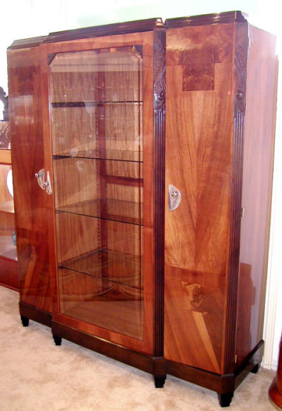 European Armoire Or Display Cabinet Art Deco Sold Items