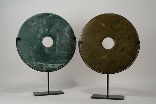 Round Natural Jade Stones With Custom Modern Minimalist