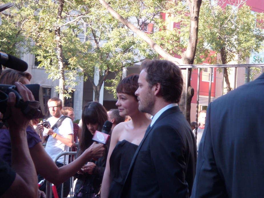 Carey Mulligan and Peter Sarsgaard at the premiere of 'An Education'