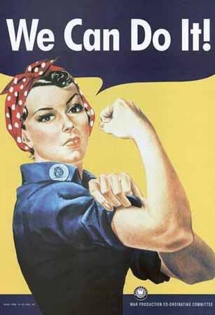 Rosie the Riveter We Can Do It wartime poster