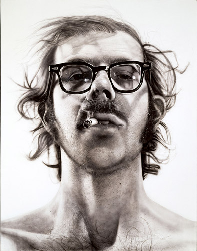 "Chuck Close, ""Big Self Portrait"" (1968)"
