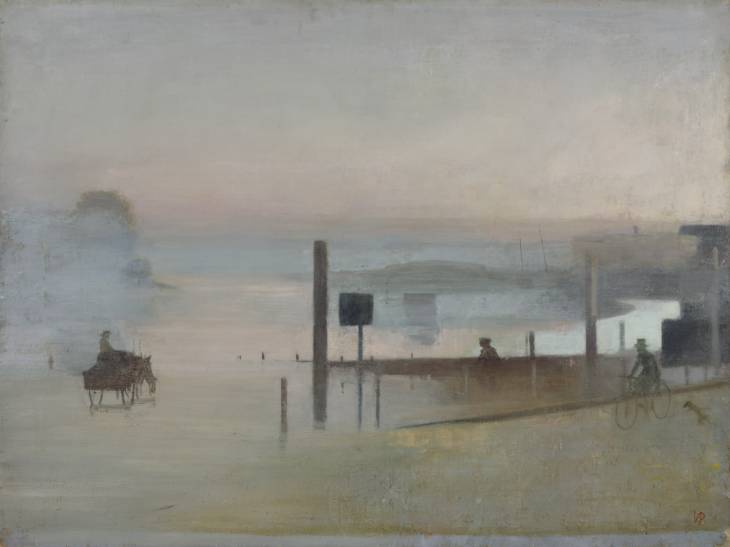 """The Quiet River: The Thames at Chiswick"", 1943-4 / Artist: Victor Pasmore"