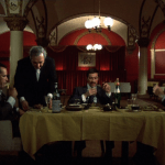 Mean Streets (1973) | Martin Scorsese production design | Martin Scorsese Films | Dinner scene at restaurant with red walls