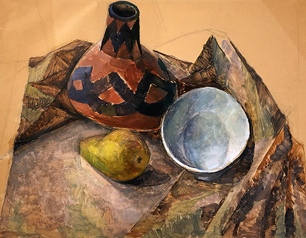 Still Life with Vase, Pear and Bowl by Kathleen Munn