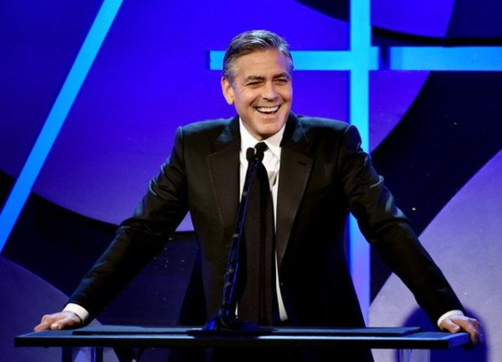 George Clooney presents the Lifetime Achievement Award to Jim Bissell