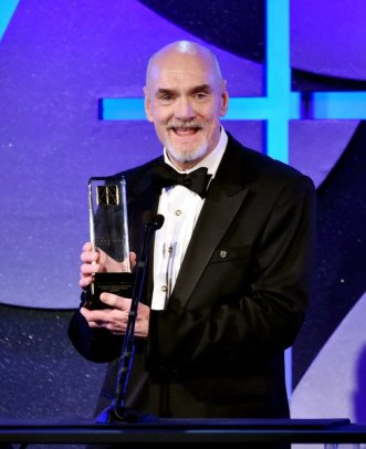 Production Designer, Jim Bissell accepts his Lifetime Achievement Award from The Art Directors Guild