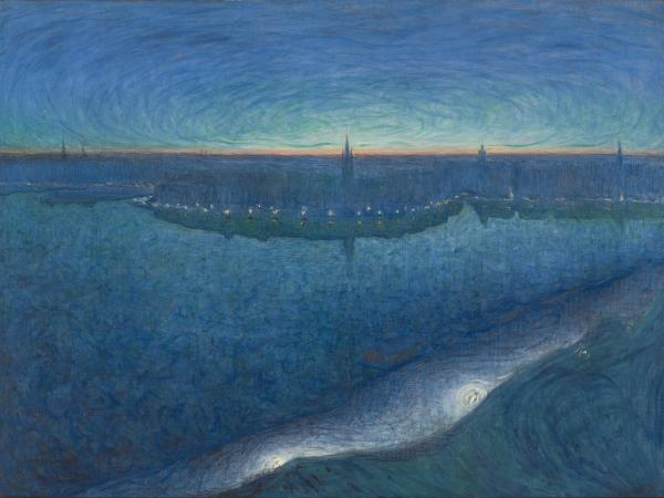 Mystical Landscapes AGO Exhibit / Eugene Jansson- Dawn Over Riddarfjarden